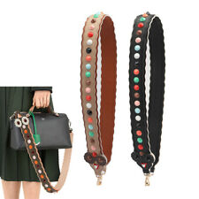 Double Sided Leather Rainbow Eyes Studded Rivets Shoulder Strap you for Hand bag