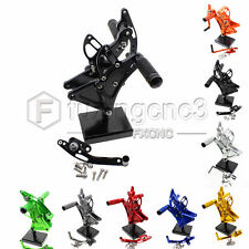 CNC Adjust Rearsets Foot Pegs Footpeg For Buell XB9S XB12S XB9R XB12R All Years