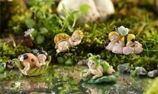 Fairy Garden Fun Dollhouse Mini Baby Flower Fairies Animals Sleeping Figurine