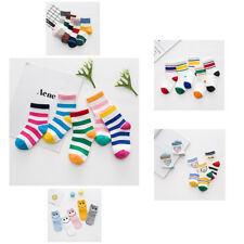 5 Pairs Fall Trend Baby Boys Girls Stripes Fight Color Warm Cotton Socks