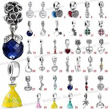 European 925 Sterling Pendant Dangle Silver Charms Bead for Bracelet Chain CA1