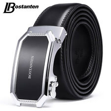 Luxury Genuine Leather Men Belts Automatic Buckle Waistband Waist Strap 3381K