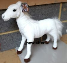 New Large White Brown Horse Soft Cuddly Toy 45 cm Soft Toy Plush