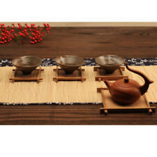 Bamboo Tea Coffee Cup Mats Mug Bowl Insulation Pads Coasters Holder 6Pcs