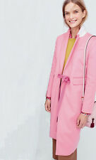 NWT $850 Designer J Crew COLLECTION Olivia Wool Cashmere Top COAT Pink UK 10-12