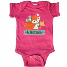 Inktastic 1st Thanksgiving Fox Infant Creeper Babys First Woodland Holiday Cute