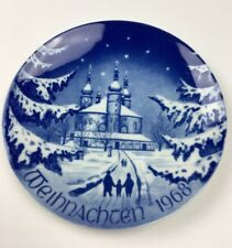Bavaria Germany Bareuther Christmas Plate Weihnachten 1968 Collector's Plate