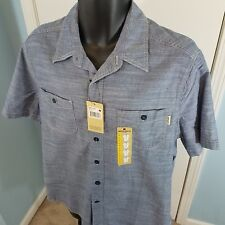 NWT Woolrich Mens Blue Button Front Shirt Size Medium or Large $45MSRP