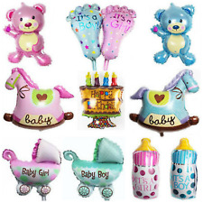 Baby Shower Balloons Birthday Party Decorations Boy Girl Pink Blue new born