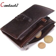 Genuine Leather Men Wallets Short Coin Purse Famous Brand Crocodile Head