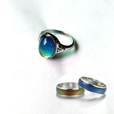 Awesome Oval Mood Ring With Twisted Band Multi Colored Change Free Color Chart