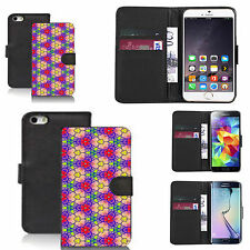 black pu leather wallet case cover for many Mobile phones - design ref zx0528