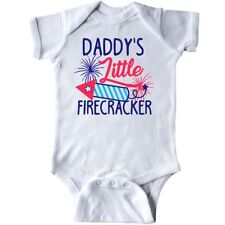 Inktastic Daddys Little Firecracker With Rocket And Fireworks Infant Creeper Day
