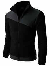 Doublju Mens Long Sleeve Colorblocked Fleece Zip-Up Jacket - Choose SZ/Color