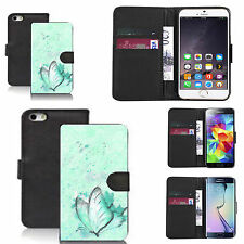 black pu leather wallet case cover for many Mobile phones - design ref zx0381