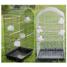 Large Metal Bird Cage Budgie Canary Parakeet Cockatiel Lovebird Tall Cage UK