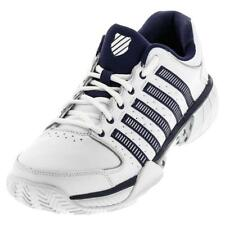 K-SWISS - Men`s HyperCourt Express Leather Clay Tennis Shoes White and Navy - (0
