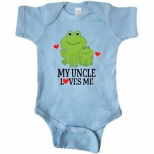 Inktastic My Uncle Loves Me Frog Infant Creeper Nephew Niece Gift Childs Cute