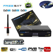 Digital Satellite Receiver IPTV DVB-S2 + T2 + C Cable TV Tuner WIFI Youtube DLNA