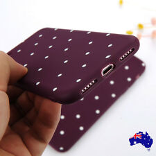 For iPhone X 5 6s 7 Plus 8 Shockproof Polka Dot Silicone Soft TPU Case Cover