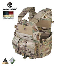 EMERSON 094K Paintball Plate Carrier Vest w/ M4 Pouch Molle Armor CORDURA Army