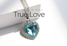 Crystal Pendant Necklace Titanic Heart Of The Ocean Necklace Valentines Gift P