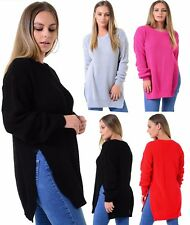 Jumpers & Cardigans Ladies women fishnet top side slit knitted sweater size 8-14