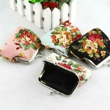 Women Wallets And Purse Elegant Retro Floral Canvas Coin Card Wallet Hasp Clutch