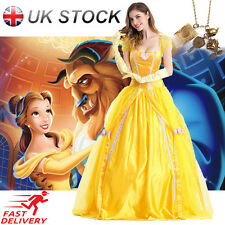 Adult Belle Cosplay Costume Beauty &The Beast Princess Fancy Dress Halloween Lot