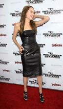CELEBRITY STYLE DESIGNER LAMBSKIN LEATHER COCKTAIL PROM PARTY DRESS TAYLOR-MADE