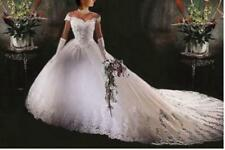 2017 White Ivory Wedding Dress Bridal Gown Custom Stock Size: 6 8 10 12 14 16 18