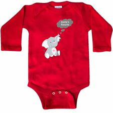Inktastic Auntie's Favorite Elephant Long Sleeve Creeper Auntie Heart Thought