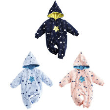 Toddler Infant Baby Boys Girls Outerwear Hooded Jacket Down Snowsuit Winter Warm