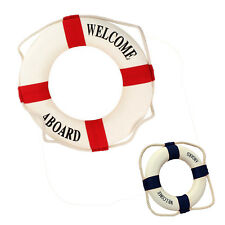 Welcome Aboard Foam Nautical Life Lifebuoy Ring Boat Wall Hanging Home Deco C6A8