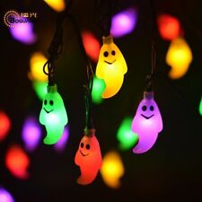 Solar Light LED Lamp Halloween Ghost Solar Panel Multicolor String Decoration