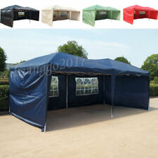 6x3mtr Fully Waterproof Pop Up Gazebo with Sides and Bag Garden Shade UK Stock