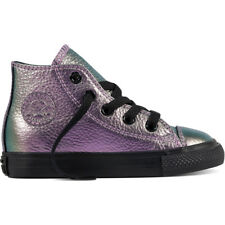 Converse Chuck Taylor All Star Hi Violet Leather Baby Trainers Shoes