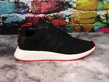 Adidas NMD R2 Core Black Red Size 11 (BA7252)