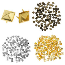 50Pairs Wholesale Square Pyramid Rivet Studs Spots Spikes Screw Colorful