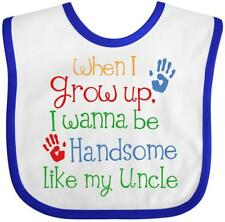 Inktastic Handsome Like My Uncle Baby Bib Nephew Gift For From Kids Family Niece