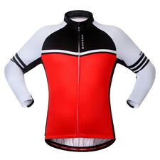 Unisex Quick-drying Thermal Fleece Jersey Long Sleeve Cycling Jersey Running