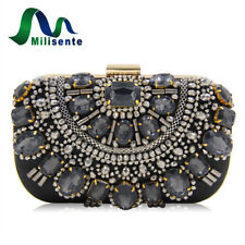 Women Party Bag With Crystal Prom Evening Clutch Handbag Wedding Purse Glamorous