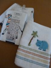 KIDS FABRIC SHOWER CURTAIN OR COTTON TOWEL ELEPHANT GIRAFFE  ZEBRA MONKEY PARROT