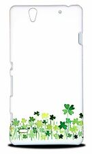 LUCKY FOUR LEAF CLOVER WATERCOLOR HARD CASE COVER FOR SONY XPERIA C4