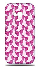 FASHION PINK BOW TIE PATTERN HARD CASE COVER FOR HTC ONE M8