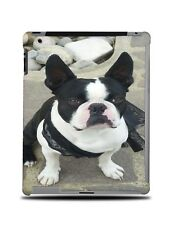 BOSTON TERRIER DOG 3 HARD CASE COVER FOR APPLE IPAD 2 / 3 / 4