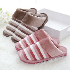 2 Pairs Unisex Cotton Slippers Winter Indoor Warm Shoes Lovers Home Slippers New