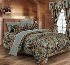 12 PC  GRAY WOODS  COMFORTER,SHEET AND CURTAIN  SET.   ALL SIZES, 16 COLORS