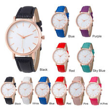 Fashion Casual Women Lady Leather Quartz Couples Students Wrist Watch Best Gift