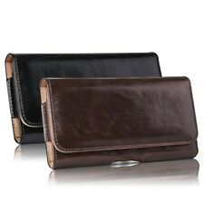 Horizontal Carry Leather Belt Clip Holster Pouch Case Cover For All Cell Phones